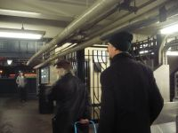 18. 2014 With Peter Schumann in the New York subway