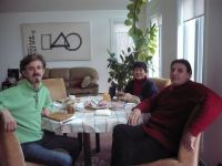 73. 2011 With Yin Peet es Viktor Lois sculptors in their home in Acton,MA,USA