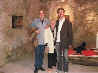 76. 2007 With my mother and Istvan Toth at our exhibitions opening