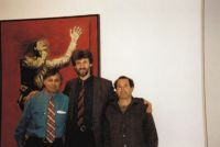 84. With Hugo di Pagano curator and Mark Newton sculptor, New York,1995