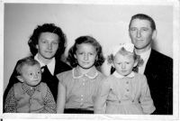 99. With my parents and Zita and Eva sisters, Hungary, 1956